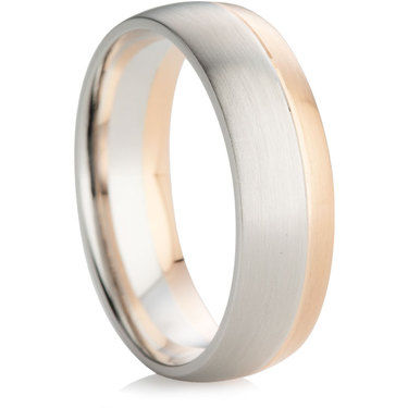 Two Colour Wedding Ring