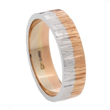 Rose and White Gold Two Colour Decorative Ring