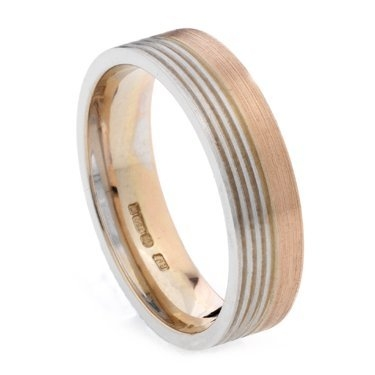 5mm Two Colour Plain Ring