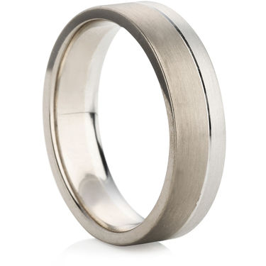 6mm Two Colour Plain Ring