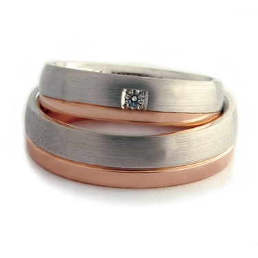 Two-Colour Double-Comfort Wedding Ring