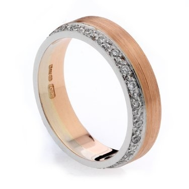 Two Colour Pave Set Diamond Ring