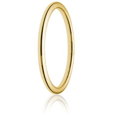 2mm Medium Weight Gold Court Wedding Ring