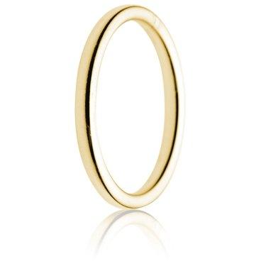 2mm Medium Weight Gold Double Comfort Wedding Ring