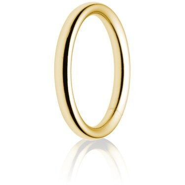 2.5mm Heavy Weight Gold Court Wedding Ring