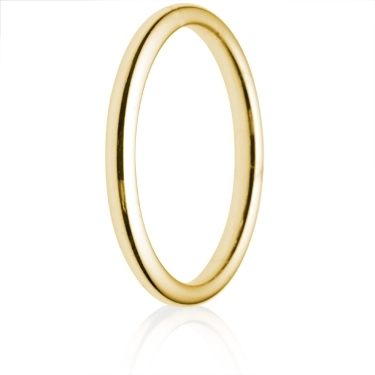 2.5mm Medium Weight Court Wedding Ring