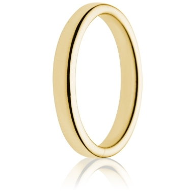 3mm Medium Weight Gold Double Comfort Wedding Ring