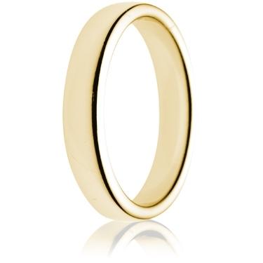 4mm Medium Weight Gold Double Comfort Wedding Ring