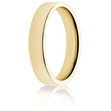 4mm Medium Weight Gold Flat Court Wedding Ring