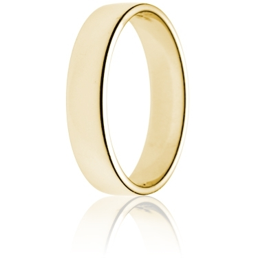 5mm Light Weight Gold Double Comfort Wedding Ring
