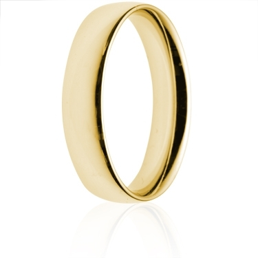 5mm Medium Weight Gold Court Wedding Ring