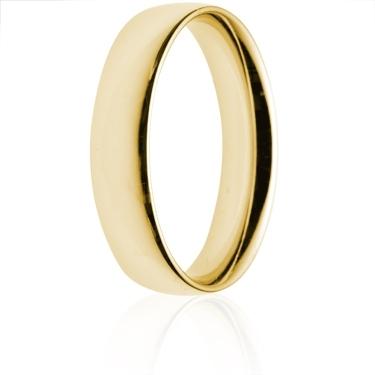 5mm Medium Weight Gold Court Wedding Ring