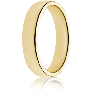 5mm Medium Weight Gold Double Comfort Wedding Ring