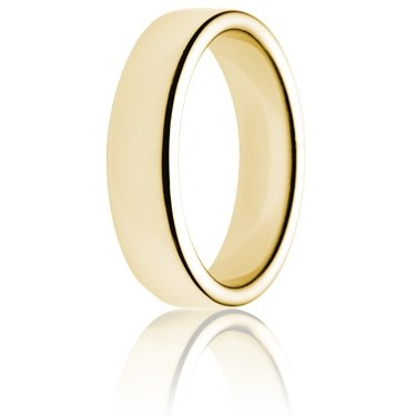 6mm Heavy Weight Gold Double Comfort Wedding Ring