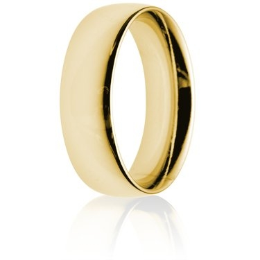 7mm Heavy Weight Gold Court Wedding Ring