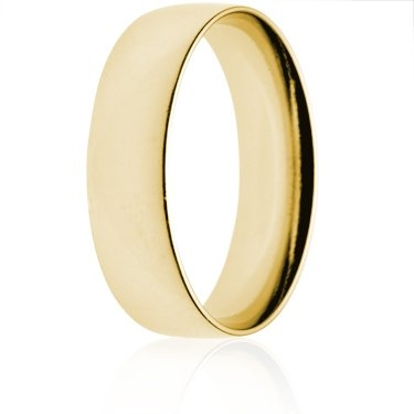 7mm Light Weight Gold Court Wedding Ring