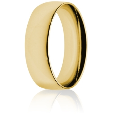 7mm Medium Weight Gold Court Wedding Ring