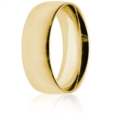 8mm Heavy Weight Gold Court Wedding Ring