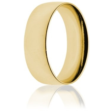 8mm Light Weight Gold Court Wedding Ring
