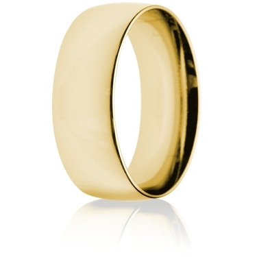 8mm Medium Weight Gold Court Wedding Ring