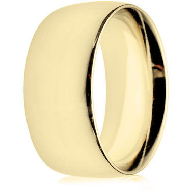 10mm Heavy Weight Gold Court Wedding Ring
