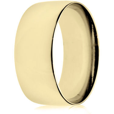 10mm Light Weight Gold Court Wedding Ring