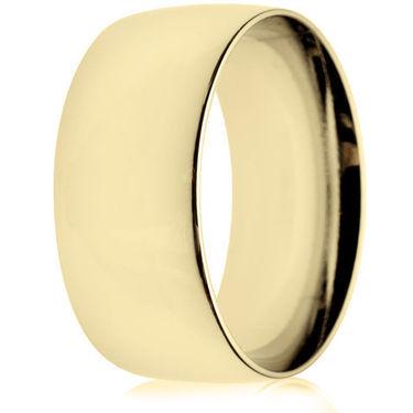 10mm Medium Weight Gold Court Wedding Ring
