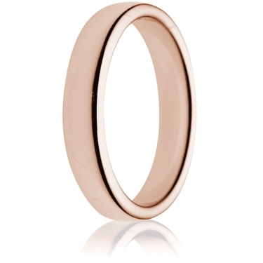 4mm Medium Weight Rose Gold Double Comfort Wedding Ring