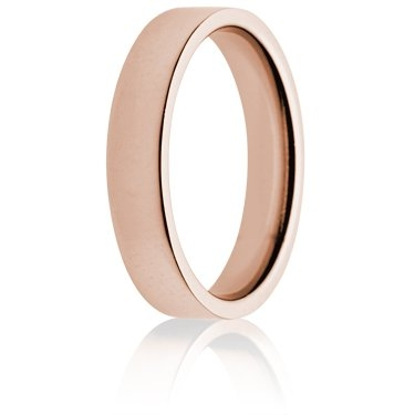 4mm Medium Weight Rose Gold Flat Court Wedding Ring