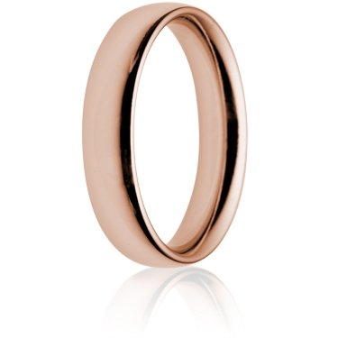5mm Heavy Weight Rose Gold Court Wedding Ring