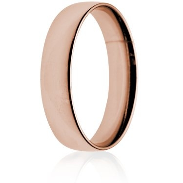 5mm Light Weight Rose Gold Court Wedding Ring