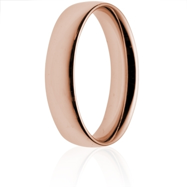 5mm Medium Weight Rose Gold Court Wedding Ring