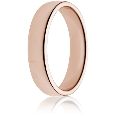 5mm Medium Weight Rose Gold Double Comfort Wedding Ring