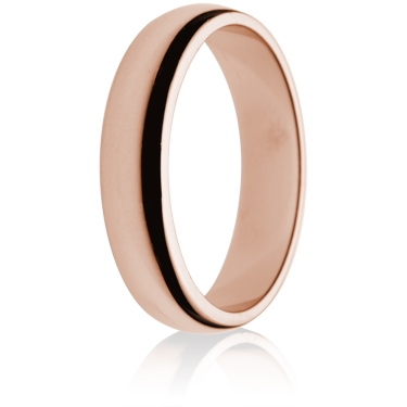 5mm Medium Weight Rose Gold D-Shape Wedding Ring