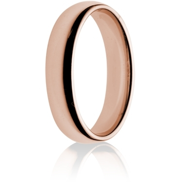 5mm Medium Weight Rose Gold Flat Sided Court Wedding Ring