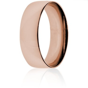 6mm Light Weight Rose Gold Court Wedding Ring
