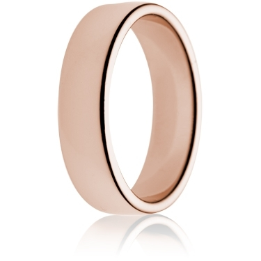 6mm Medium Weight Rose Gold Double Comfort Wedding Ring