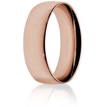 7mm Medium Weight Rose Gold Court Wedding Ring