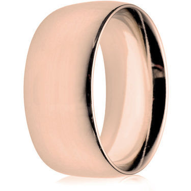 10mm Heavy Weight Rose Gold Court Wedding Ring