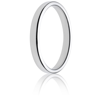 2.5mm Light Weight Double Comfort Wedding Ring