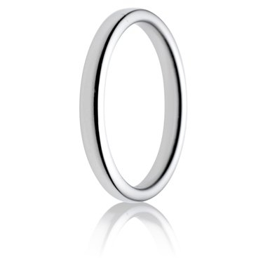 2.5mm Medium Weight Double Comfort Wedding Ring