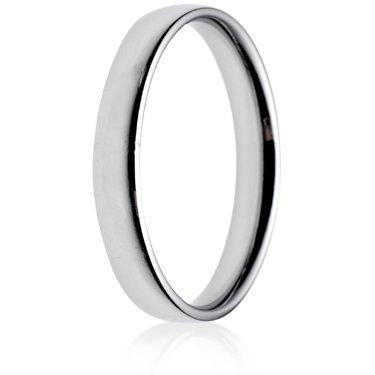 3mm Light Weight Court Wedding Ring