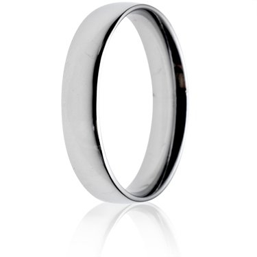 4mm Light Weight Court Wedding Ring