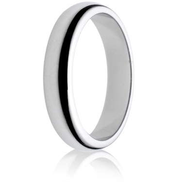 4mm Medium Weight D-Shape Wedding Ring