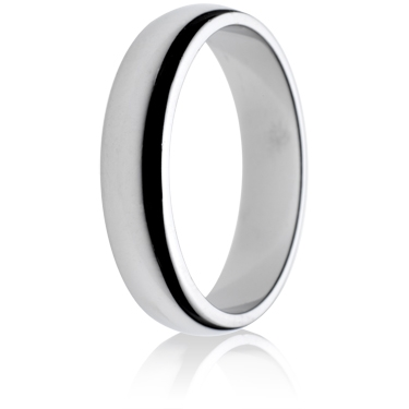 5mm Medium Weight D-Shape Wedding Ring