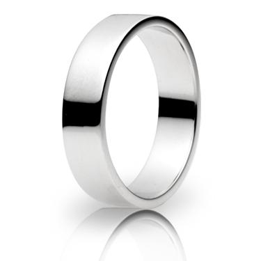 5mm Medium Weight Flat Wedding Ring