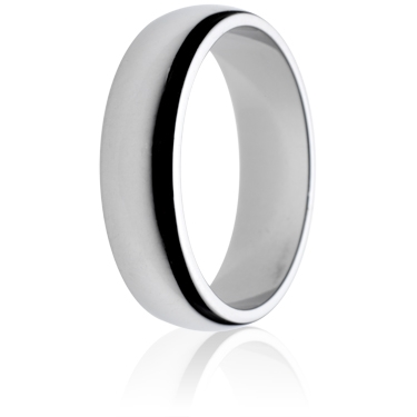 6mm Medium Weight D-Shape Wedding Ring