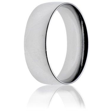 8mm Light Weight Court Wedding Ring
