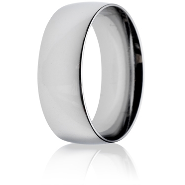 8mm Medium Weight Court Wedding Ring