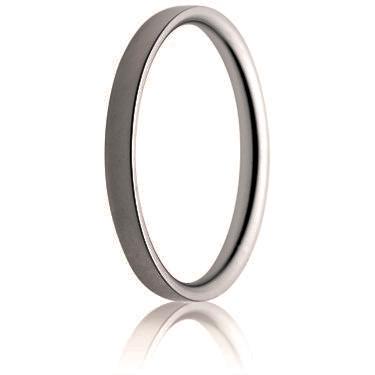 2mm Medium Weight Flat Court Wedding Ring